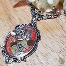 <b>Steampunk</b> Rose Necklace for Valentines Day Gift Ideas, <b>Vintage</b> ...