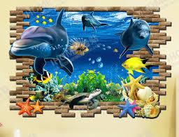Small Picture Aliexpresscom Buy 3D Wallpaper Sweet Home Decor Blue Ocean