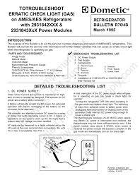Dometic Rm2652 Check Light Troubleshoot Erratic Check Light Gas Manualzz Com
