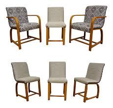 Art deco modern furniture Trends Overstock Gilbert Rohde Art Deco Modern Dining Chairs Chairish