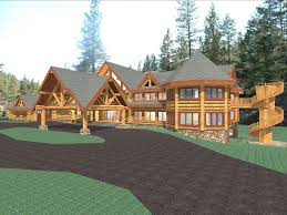 15281 sq ft log home plans
