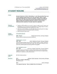 Resume Format For Students Delectable Student Resume Format Hyperrevcipo