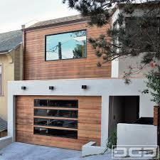 san francisco bay area custom garage door in a modern design with glass panels modern