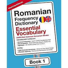 It is used to spell out words when speaking to someone not able to see the speaker, or when the audio channel is not clear. Romanian Frequency Dictionary Essential Vocabulary 2500 Most Common Romanian Words Romanian English Mostusedwords Micu Ana Maria 9789492637291 Amazon Com Books