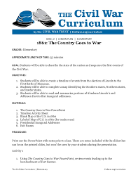 The country goes to war lesson