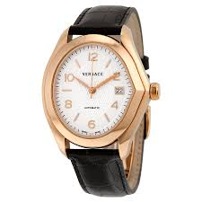 versace v master automatic white dial black leather men s watch versace v master automatic white dial black leather men s watch 20a380d001 s009
