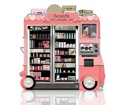 Who Owns Vending Machines Stunning Benefit Cosmetics Glam Up And Away Vending Machines Beauty Point