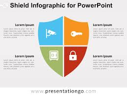 Infographic For Powerpoint Shield Infographic For Powerpoint Presentationgo Com