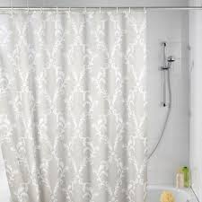 cool fabric shower curtains. Interior, Elegant Fabric Shower Curtains Transparent Plastic Curtain Beige Round Brown Wooden Cool