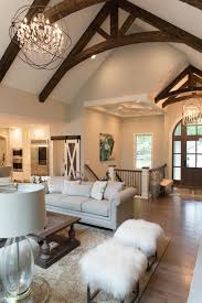 Exposed wood beams, family room, living room | Inspiration Living ...