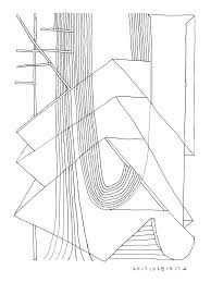 770x1027 saatchi art roof structure in forest mind forms line art