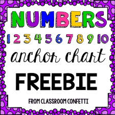 Numbers 1 10 Anchor Chart Freebie