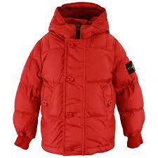 stone island puffer jacket red