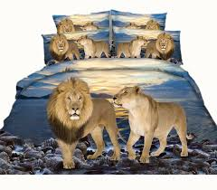 fashion design ocean lion leopard 3d printed bedding sets fabric cotton twin full queen king size duvet covers pillow shams comforter animal duvets