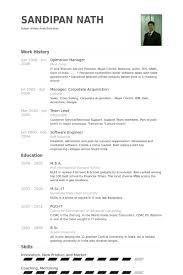 Operation Manager Resume Samples Visualcv Resume Samples Database