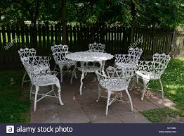 wrought iron wicker outdoor furniture white. Fine Outdoor White Wrought Iron Metal Table Chairs Patio Furniture Shade Shaded  Sheltered Garden Gardening RM Floral On Wrought Iron Wicker Outdoor Furniture White P