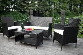 Amazon Merax 4 Piece Outdoor Patio PE Rattan Wicker Garden