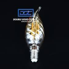 c35 classic candle bent tip 230v 240v 4w vintage led filament gold tint decorative chandelier light bulb wire led bulb
