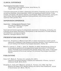 pediatric psychologist sample resume professional curriculum vitae resume  template sample template of .