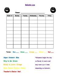 3rd Grade Behavior Chart Behavior Chart