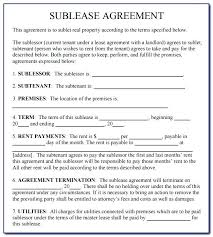 Sublease Form Free Sublease Agreement Template Ideas Formidable Lease Word
