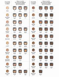 Bare Minerals Matte Foundation Color Chart Avon Foundation Color Comparison Chart Charts Boston