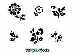 かわいいゆるゆるお花のシルエットベクターイラスト素材商用ok