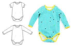 Bodysuit Sewing Pattern Stunning Baby Bodysuit Sewing Pattern Photo Tutorial Short And Etsy