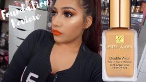 estee lauder double wear foundation in cashew review demo alexisjayda