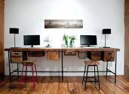 industrial style home office. Industrial Style Office Furniture Double Desk  Home