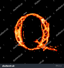 Orange liquid alphabet - letter Q - color of juice, brandy, cognac, liquor