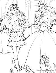 Coloriage De Barbie Princesse Et Popstar Serapportant Coloriage De