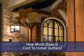 cost to install gutter gutter cost to install gutters diy concrete footing for outdoor fireplace