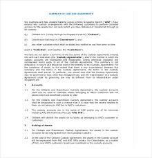 Custody Agreement Template 11 Custody Agreement Templates Free Sample Example