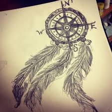 Pictures Of Dream Catchers To Draw compass dreamcatcher tattoos My compass dream catcher drawing 46