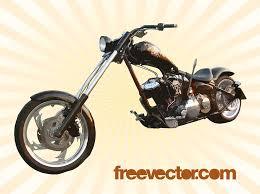 harley chopper vector art graphics freevector com