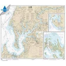 Noaa Chart 13295 Waterproof Noaa Chart 12272 Chester River Kent Island Narrows Rock Hall Harbor And Swan Creek