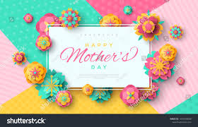 Mothers Greeting Card Mothers Day Greeting Card Square Frame Stock Vector Royalty Free