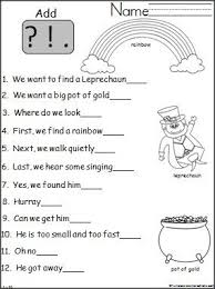 St Patricks Day Punctuation Practice Teaching In March