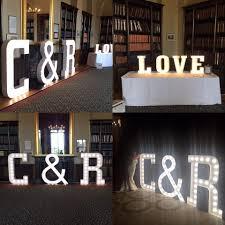 Giant Light Up Letters Diy Light Up The Night Letters Allfreediyweddingscom Giant
