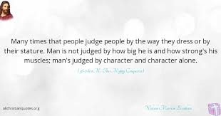 Deeper Christian Quotes Best Of William Marrion Branham Quote About Character Dress People