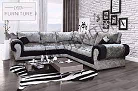 new design tango large corner sofa luxury crushed velvet