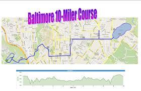 Baltimore 10 Miler Elevation Chart Course Elevation Map Oakland Marathon