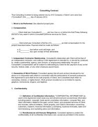 Consulting Agreement In Pdf Magnificent Write A Consulting Contract Sample Resume Pdf And Template