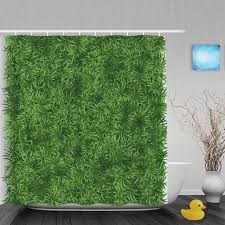 3d printing shower curtain bright green grass meadow decor bthroom shower curtains waterproof mildew polyester fabric