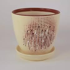 <b>Горшок керамический с поддоном</b> 1.05л арт 3444/4 - купить в ...