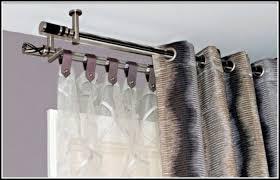 endearing double rod curtains and double pole curtain rod curtains home design ideas