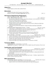 Cal Poly Resume Examples Aerospace Quality Engineer Resume Sample Engineering Manufacturing