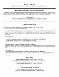 Property Manager Resume Sample Inspirational Procurement Manager ...