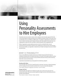 Good Work Traits Using Personality Assessments To Hire Employees